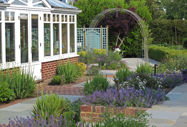 courtyard garden country house haslemere surrey