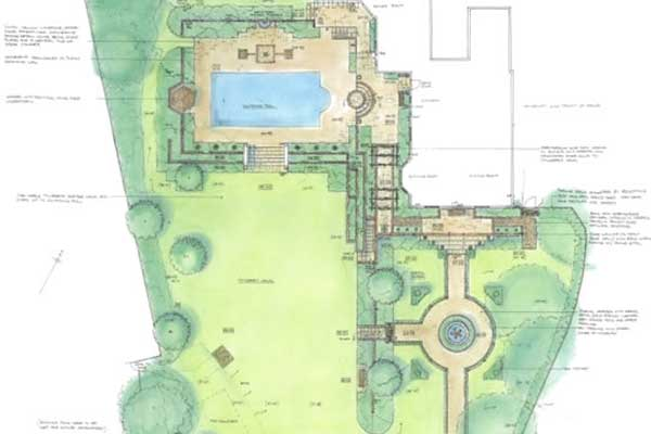 swimming pool garden design farnham surrey