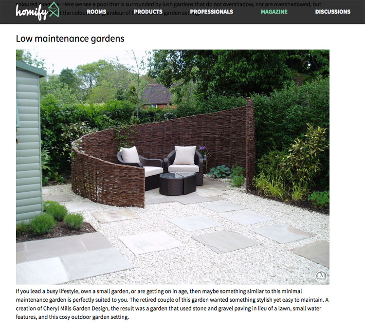Small Garden Designs Surrey: Press Article For Cherry Mills